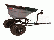 Precision Products 75 LB Pro Series Tow Behind Broadcast Spreader With Rain Cover