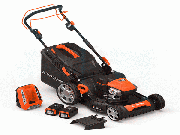 "Yard Force YF120vRX (22"") 120-Volt Lithium-Ion Cordless Self-Propelled Lawn Mower (With Battery & Charger)"